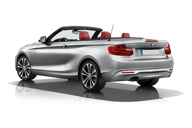 BMW 2 Series 218 Convertible 2.0 d 150PS M Sport 2Dr Auto [Start Stop] back view